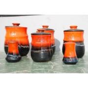 Vintage Ellis ceramic jars