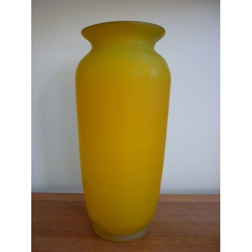 Large Yellow Glass Vase