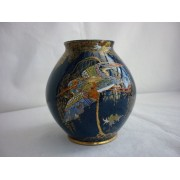 Carlton Ware blue Sketching Bird vase
