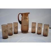 Bohemian Glass drinks set