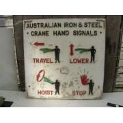 Australian Iron and Steel crane hand signals sign